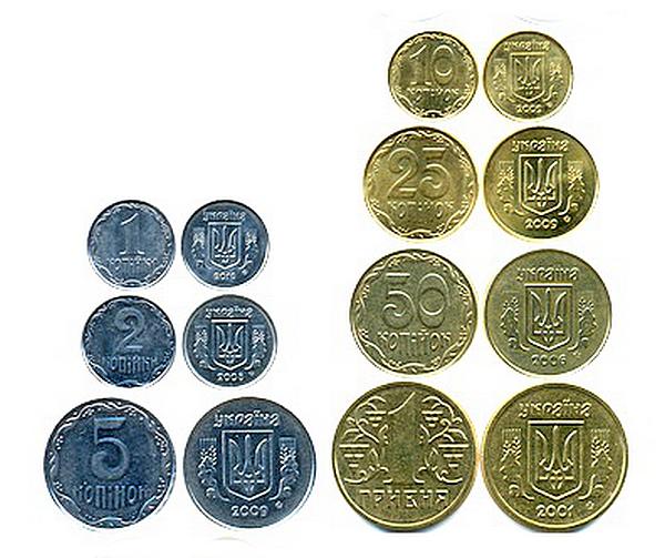 набор украинских монет копеек