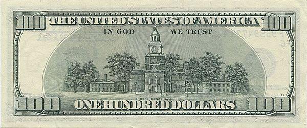 100 долларов 2003 года