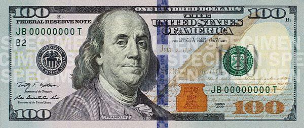 100-долларовые банкноты (новая серия)