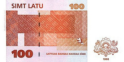 100 латвийских латов (оборотная сторона)