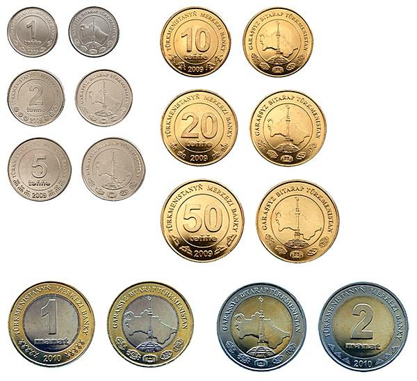 Все туркменские монеты