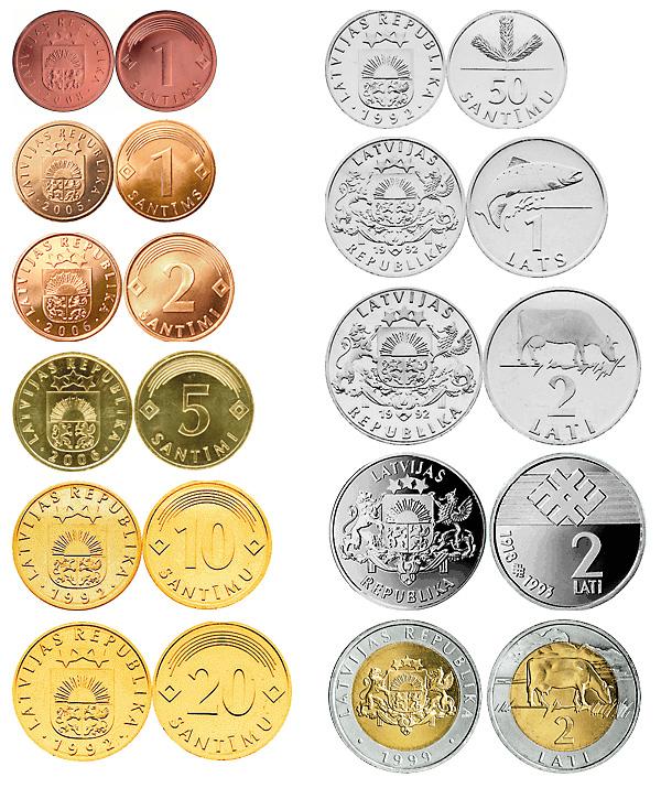 Латвийские монеты