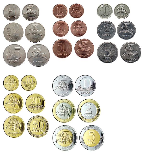 Все литовские монеты