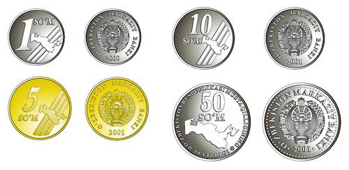 узбекские монеты сомы